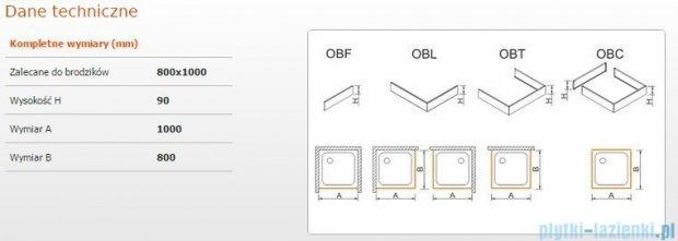 Sanplast Obudowa brodzika OBL 80x100x9 cm 625-400-1330-01-000