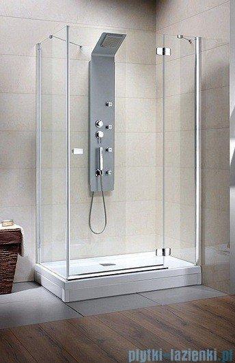 Radaway Kabina prysznicowa Fuenta KDJ 100x80 prawa szkło przejrzyste + Brodzik Argos D + syfon 381043-01R