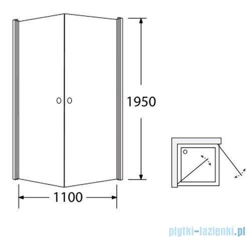 Sea Horse Fresh Line kabina narożna kwadratowa z powłoką 90x90 cm  BK122T+
