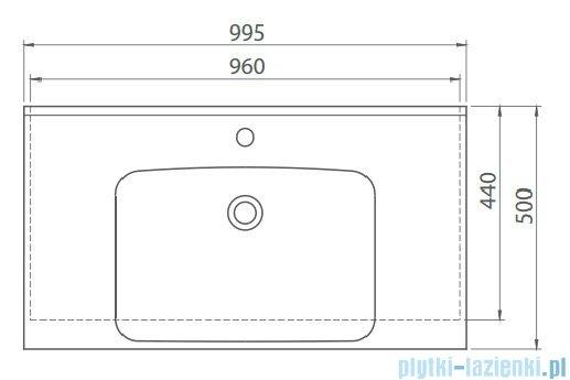 Cerastyle Anova umywalka 99,5x50cm meblowa / ścienna 090800-u