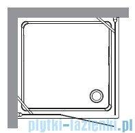 Kerasan Kabina kwadratowa prawa szkło piaskowane profile złote 100x100 Retro 9149S1