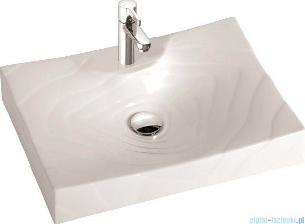 Marmorin umywalka nablatowa Rosa 60cm z otworem biała 250060020011