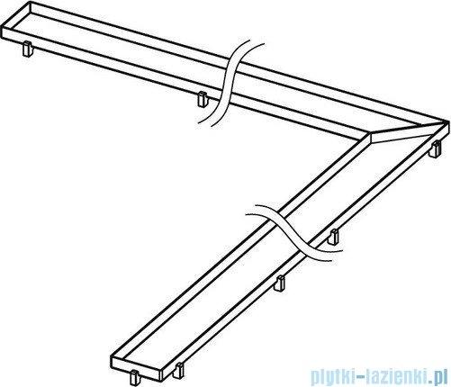 Tece Ruszt kątowy Plate ze stali nierdzewnej Tecedrainline do wypełnienia płytkami 90x90 cm połysk 6.109.70