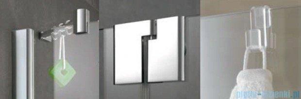 Kermi Pasa XP Parawan nawannowy z pole stałym, prawy, szkło przezroczyste, profil srebro połysk 90x150 PXDTR09015VAK