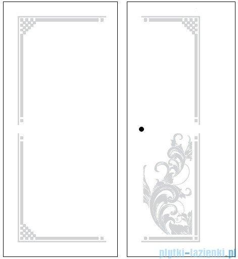 Kerasan Retro Kabina prostokątna lewa szkło dekoracyjne przejrzyste profile brązowe 80x96 9142N3
