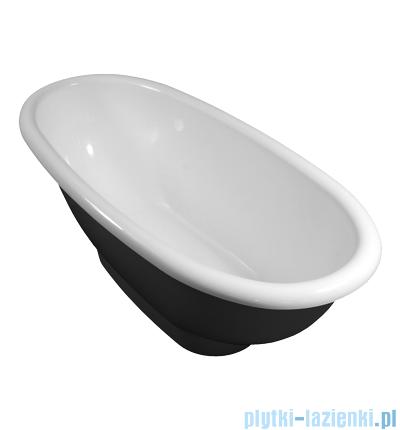 Omnires Madrid wanna 181x80cm wolnostojąca biało-czarny połysk MARBLE+MADRID181CP
