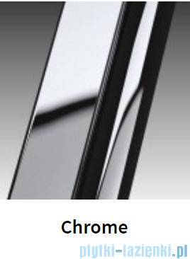 Novellini Ścianka boczna GIADA 66 cm szkło przejrzyste profil chrom GIADNF2B66-1K