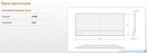 Sanplast Classic obudowa czołowa do wanny prostokątnej OWP/CLa 140 cm 620-011-0030-01-000