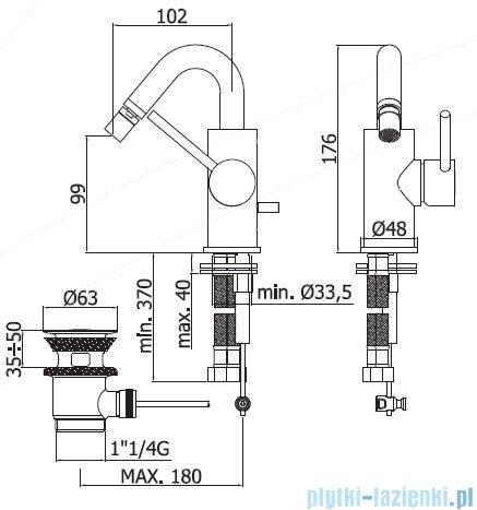 Paffoni Light bateria umywalkowa z korkiem automatycznym chrom LIG937