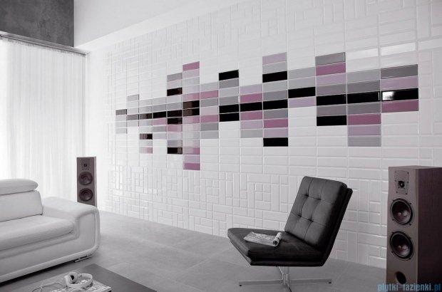 Paradyż Tamoe ondulato grafit płytka ścienna 19,8x19,8
