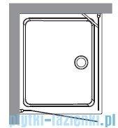 Kerasan Retro Kabina prostokątna prawa szkło dekoracyjne przejrzyste profile brązowe 80x96 9144N3