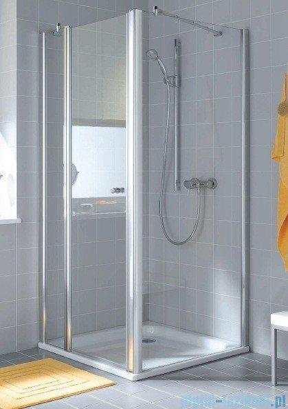 Kermi Atea Ściana boczna, szkło przezroczyste, profile białe 100cm ATTWD100182AK