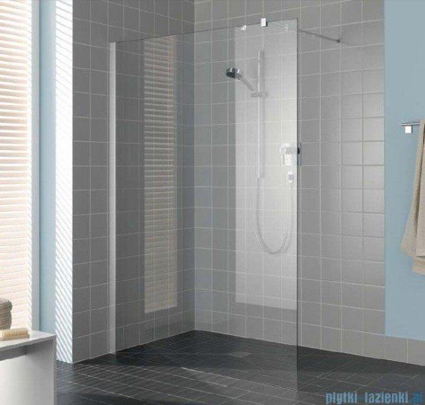Kermi Filia Xp Ściana Walk-in Wall, stabilizator 90 stopni szkło przezroczyste KermiClean, profile srebrne 90x200cm FXTWF09020VPK