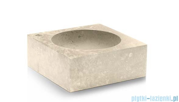 Bathco Versalles umywalka nablatowa kamienna 40x40cm beige 00354