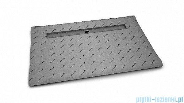 Radaway brodzik podpłytkowy z odpływem liniowym Steel na dłuższym boku 169x79cm 5DLA1708B,5R115S,5SL1