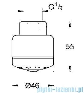 Grohe Relexa prysznic górny z małym napowietrzeniem DN 15  28545000