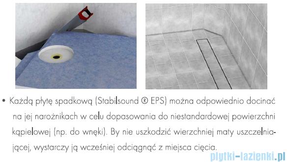 Schedpol brodzik posadzkowy podpłytkowy ruszt chrom 120x120x5cm 10.004/OLKB/CH