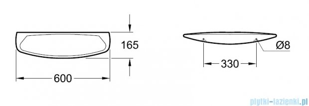 Villeroy&Boch O.novo Półka  600x165    78186001