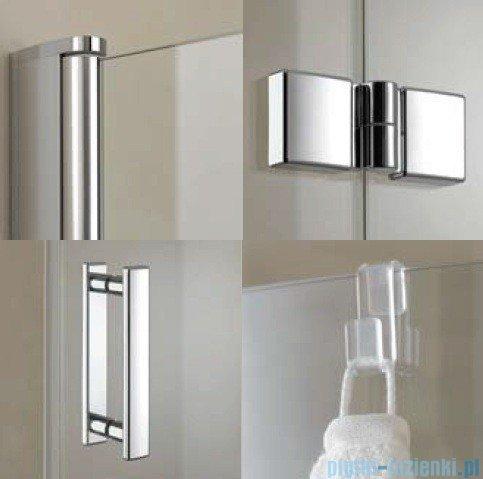 Kermi Diga Drzwi wahadłowo-składane, prawe, szkło przezroczyste, profile białe 110x200 DI2DR110202AK