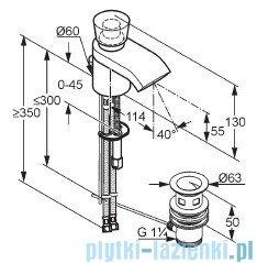 Kludi Joop Bateria umywalkowa jednouchwytowa DN 10 chrom/szkło zielone 55023H705