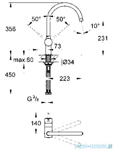 Grohe Minta jednouchwytowa bateria zlewozmywakowa DN 15 Supersteel 32917DC0