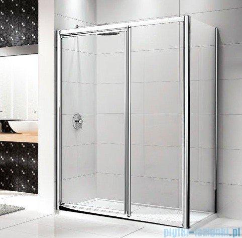 Novellini Drzwi prysznicowe LUNES G+F 108 cm szkło przejrzyste profil srebrny LUNESGF108-1B