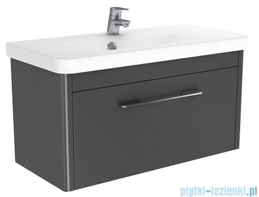 New Trendy Vito szafka umywalkowa 80  biały  połysk + umywalka ML-LA080