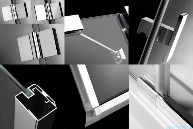 Radaway Essenza KDJ+S kabina 80x100x80 lewa szkło przejrzyste + Brodzik Doros D + syfon 32942-01-01L