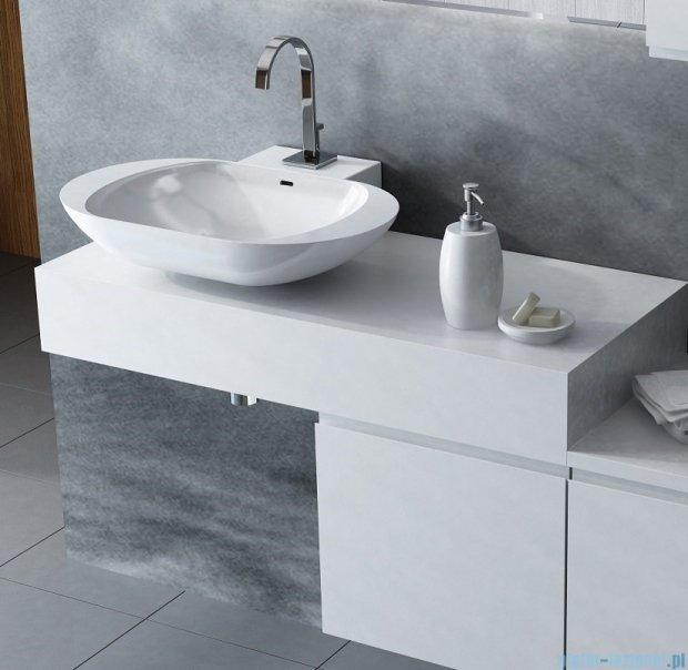 Antado Combi szafka lewa z blatem lewym i umywalką Mia biały ALT-141/45-L-WS+ALT-B/1-1000x450x150-WS+UCS-TC-60