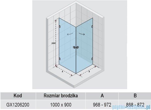 Riho Scandic Lift M209 kabina prysznicowa 100x90x200 cm GX1206200