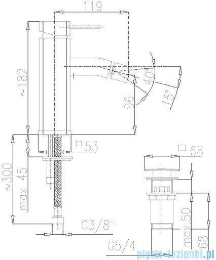 KFA Brylant bateria bidetowa, kolor chrom 4307-011-00