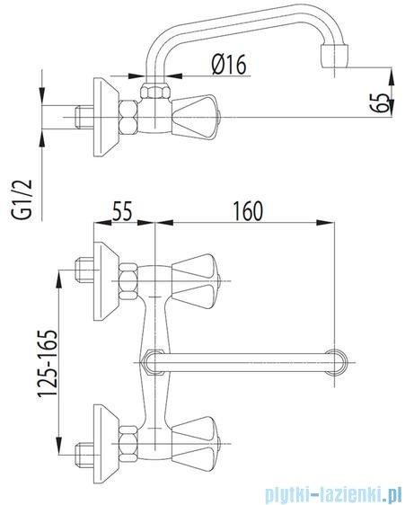 KFA STANDARD Bateria umywalkowa ścienna 300-390-00