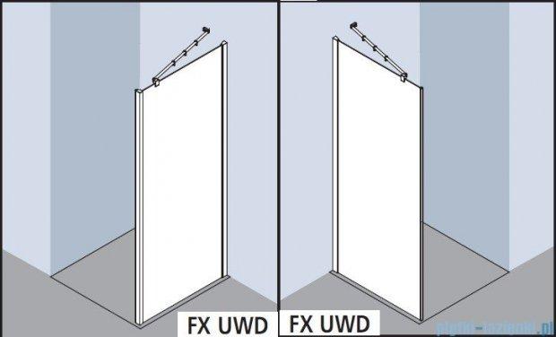 Kermi Filia Xp Ściana boczna, szkło przezroczyste, profile srebrne 90x200cm FXUWD09020VAK
