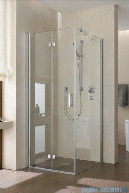 Kermi Diga Drzwi wahadłowo-składane do ściany bocznej, lewe, szkło przezroczyste, profile srebrne 80x200 DI2SL08020VAK