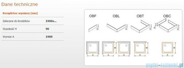 Sanplast Obudowa frontowa do brodzika OBF 190x9 cm 625-400-0520-01-000