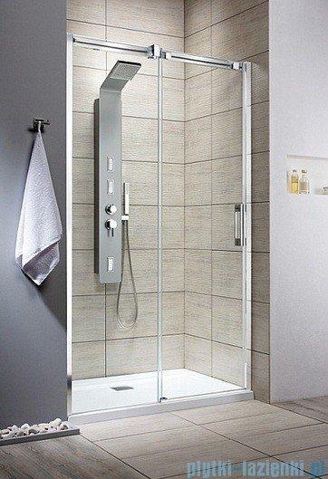 Radaway Drzwi wnękowe przesuwne Espera DWJ 100 lewe szkło przejrzyste + brodzik Delos C + syfon 380110-01L/SDC1010-01