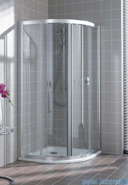 Kermi Atea Kabina ćwierćkolista, drzwi przesuwne, szkło przezroczyste, profile białe 80x80cm ATQ20080182AK