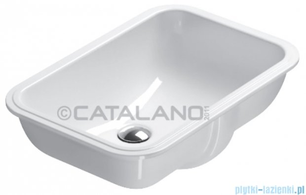 Catalano Sottopiano 50 umywalka podblatowa 50x35 cm biała 1S50CN00