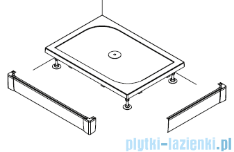 SanSwiss PWIL Obudowa do brodzika 2-stronna 90x160cm połysk PWIL09016050