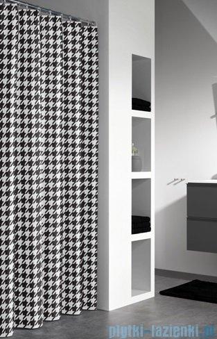 Sealskin Seamless Black zasłona prysznicowa tekstylna 180x200cm 235271319