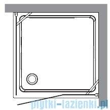 Kerasan Kabina kwadratowa lewa, szkło przejrzyste profile chrom 100x100 Retro 9150T0