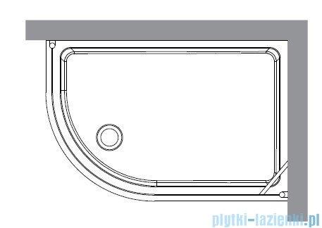 Kerasan Kabina półokrągła lewa szkło piaskowane profile brązowe 80x120 Retro 9138S3