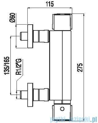 Tres Lex-Tres Bateria termostatyczna natryskowa bez akcesoriów 1.81.164