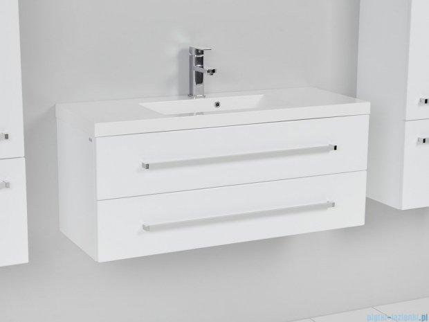 Antado Variete szafka z umywalką, wisząca z dwiema szufladami 100x39x40 biały połysk FM-C-442/10/2 + UMMC-1000X390