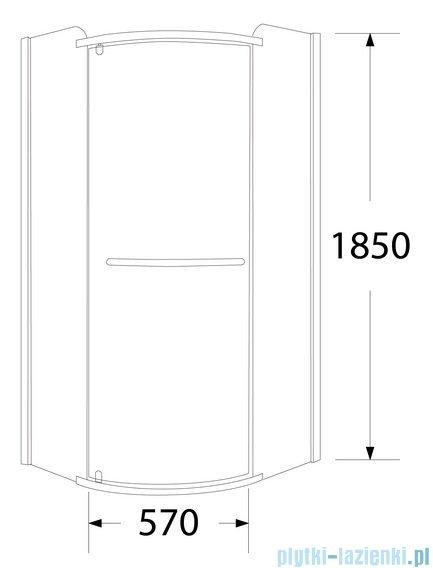 Sea Horse Sigma zestaw kabina natryskowa narożna półokrągła prawa, 80x80, szkło Moon + brodzik BKZ1/3/RMP