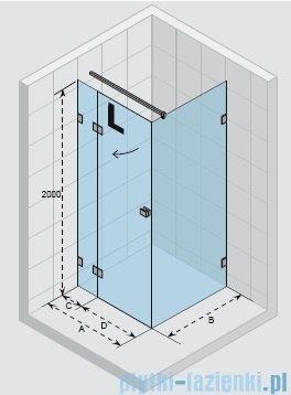 Riho Scandic Lift M203 kabina prysznicowa Scandic Lift M203 120x90x200cm lewa GX0902201