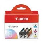 Zestaw trzech tuszy Canon CLI-8 oryginał CMY