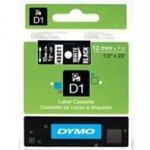 Dymo taśma do drukarek etykiet, D1 45021 biały/czarny 7m/12mm