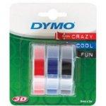 Dymo taśma do drukarek etykiet, 3D 3 rolkix3m/9mm mix kolorów