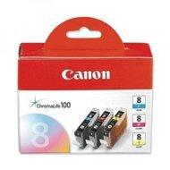 Zestaw 3 tuszy Canon CLI-8 oryginał CMY